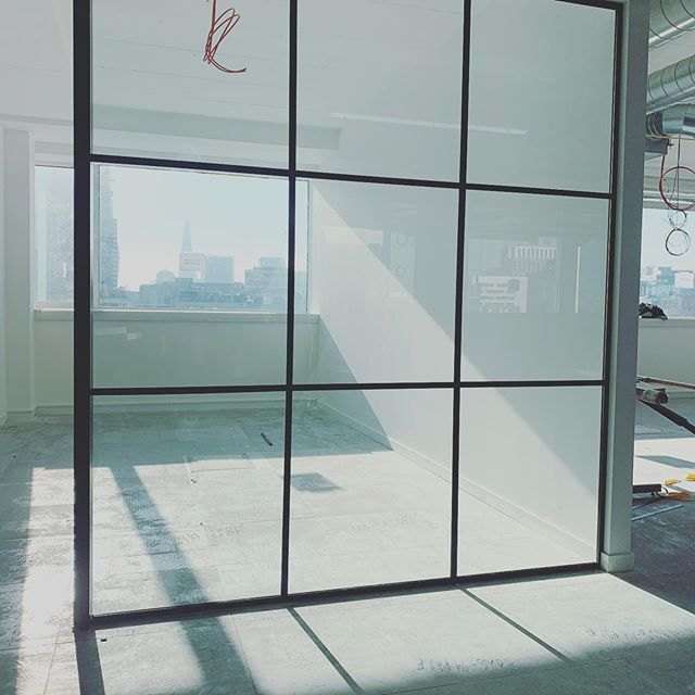 with a view.  Loving the crittall effect glazing going into Threads Styling awesome new office...PC is just a few weeks away now. Exciting times.
