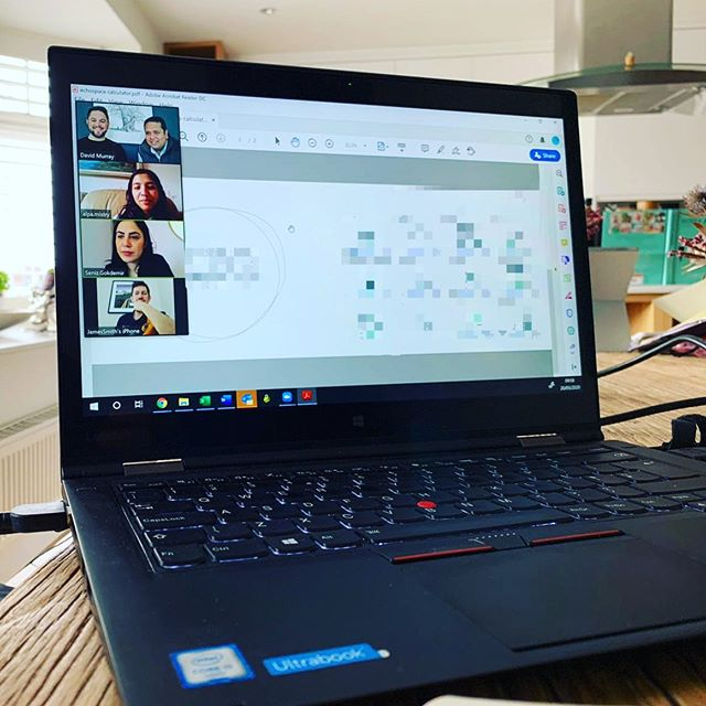 These 'wfh posts' are becoming more common place as we all get into the routine of catching up virtually every day. This morning our team were collaborating on an exciting new tool that will help business make decisions for when we head back to the office! keep an eye out for it! ... even if it's at home for a while